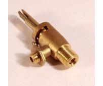 Кран для газовой плиты Электа,Терек (резьба 14 мм)